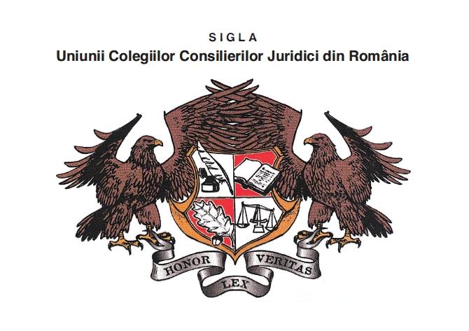 Sigla Uniunii Colegiilor Consilierilor Juridici din Romania