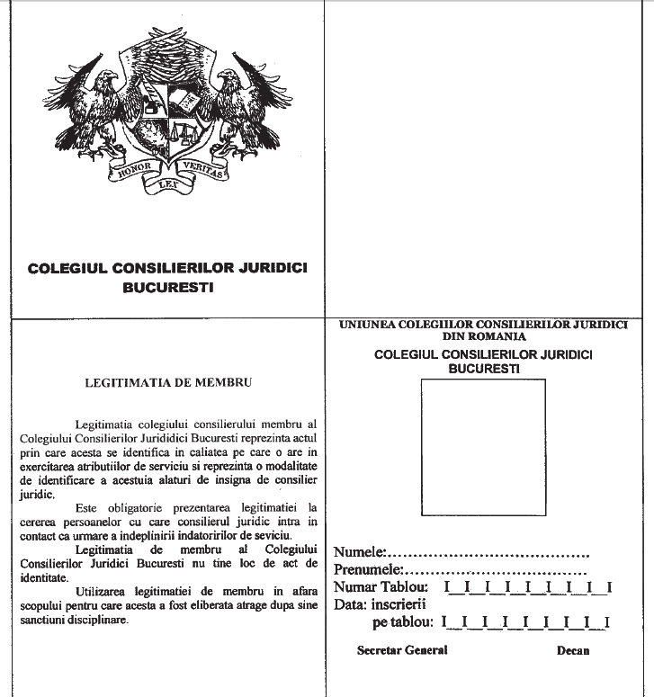 Legitimatie de membru 1
