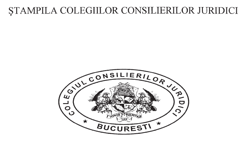 Stampila Colegiilor Consilierilor Juridici